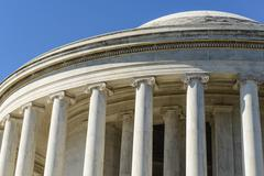 jefferson memorial in washington dc - stock photo