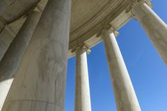 Pillars with blue sky Stock Photos