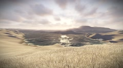 Vignette of tundra landscape static shot Stock Footage