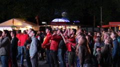 Affective Emotive Emotional Crowd Fans Belgium Team Supporters World Cup Berlin Stock Footage