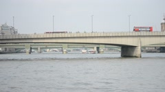 London Bridge  From The South East Stock Footage