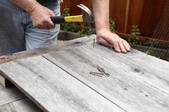 Using old wood and nails DIY Stock Photos