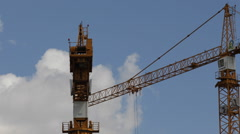 Construction Cranes Projects Under Development Building Real Estate Business Stock Footage