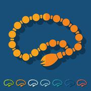 Flat design: rosary - stock illustration
