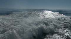 A ship's wake, 4K UHD Stock Footage