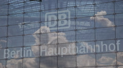 Berlin Central Station Glass Modern Architecture Construction Hauptbahnhof DB Stock Footage