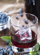 blueberry liqueur - stock photo