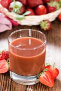 homemade strawberry juice - stock photo