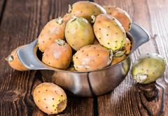 some fresh prickly pears - stock photo