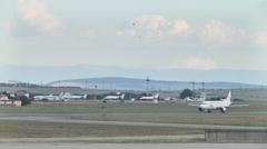planes are at the airport on the tarmac - stock footage