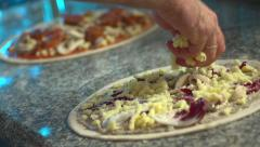 Stock video footage cooking pizza Stock Footage