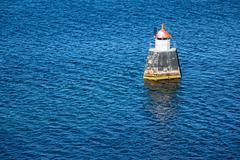 lighthouse in the oslofjord - stock photo
