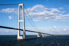 öresund bridge - stock photo
