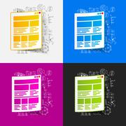 Stock Illustration of Drawing business formulas: interface