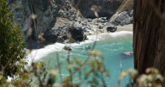4K Big Sur McWay Falls Dolly 04 Up Pacific Coast California Stock Footage