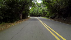 Driving through the trees in the USVI Stock Footage