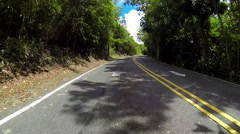 Jeep driving through the shade in the USVI - stock footage
