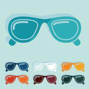 Flat design: sunglasses Stock Illustration
