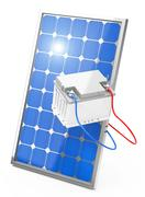 photovoltaic battery - stock illustration