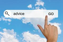 Stock Illustration of advice on search toolbar