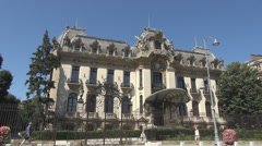 National museum George Enescu in Bucharest, music temple, classic composer home - stock footage