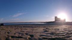 Algarve - Ria Formosa - Fuseta Sunset 010 Timelapse Stock Footage