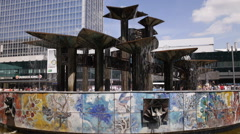 Fountain Of The Friendship Of Nations Berlin Alexanderplatz German Landmark Day Stock Footage