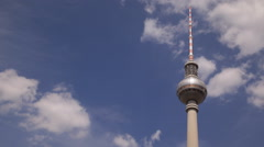 Travel Attraction German Tourism Famous Landmark Berlin Radio TV Tower Skyline Stock Footage