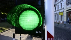 Trafic light - stock footage