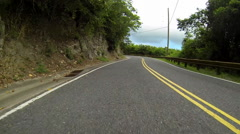 Car explores the roads of the USVI Stock Footage