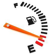 the fuel gauge - stock illustration