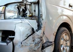 Front crash Stock Photos