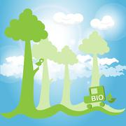 bio - stock illustration