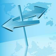 Blue arrows Stock Illustration
