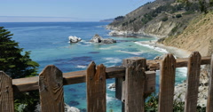 4K Big Sur McWay Falls Dolly 11 Forward Pacific Coast California - stock footage