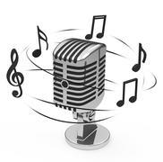 the music - stock illustration