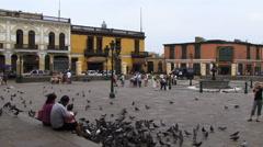 Manta Ecuadore city centre Stock Footage