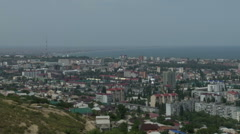 Top view of the Makhachkala (North Caucasus) Stock Footage