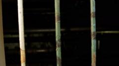 Prison Cage Bars, Crime, Justice, Jail, Metal, Iron, Pan Stock Footage