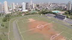 Aerial view from a Park in Sao Paulo, Brazil Stock Footage