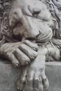Stock Photo of lion monument
