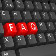 faq keyboard - stock illustration