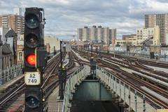 Brighton beach subway station, new york Stock Photos