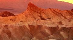 Zabriskie Point, Death Valley, California, USA Stock Footage