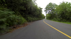 Car goes down the roads of the usvi Stock Footage