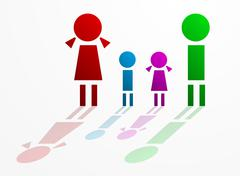 family concept - stock illustration