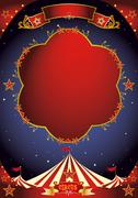 Circus poster night Stock Illustration