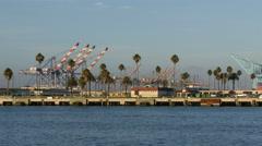 4K San Pedro Harbor Port of Los Angeles Stock Footage