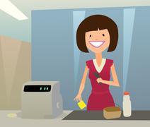 Cashier woman Piirros
