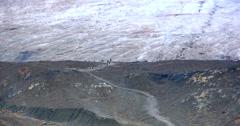 4K Zoom Shot of Glacier, Ice Field in Mountains, Jasper Alberta, Canada Stock Footage